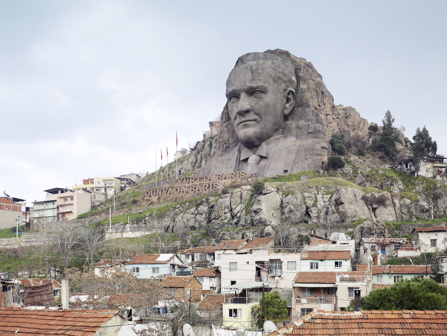 Ataturk Mask, 40 m (132 ft), 2009 - Buca, Izmir, Turkey