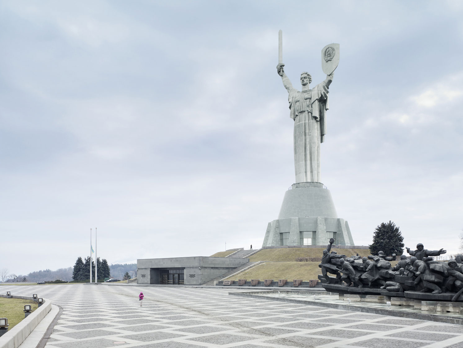 Mother of the Fatherland, 62 m (203 ft), 1981 - Kiev, Ukraine