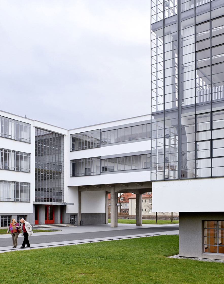Bauhaus building by Walter Gropius, 1925-26, Dessau, Germany