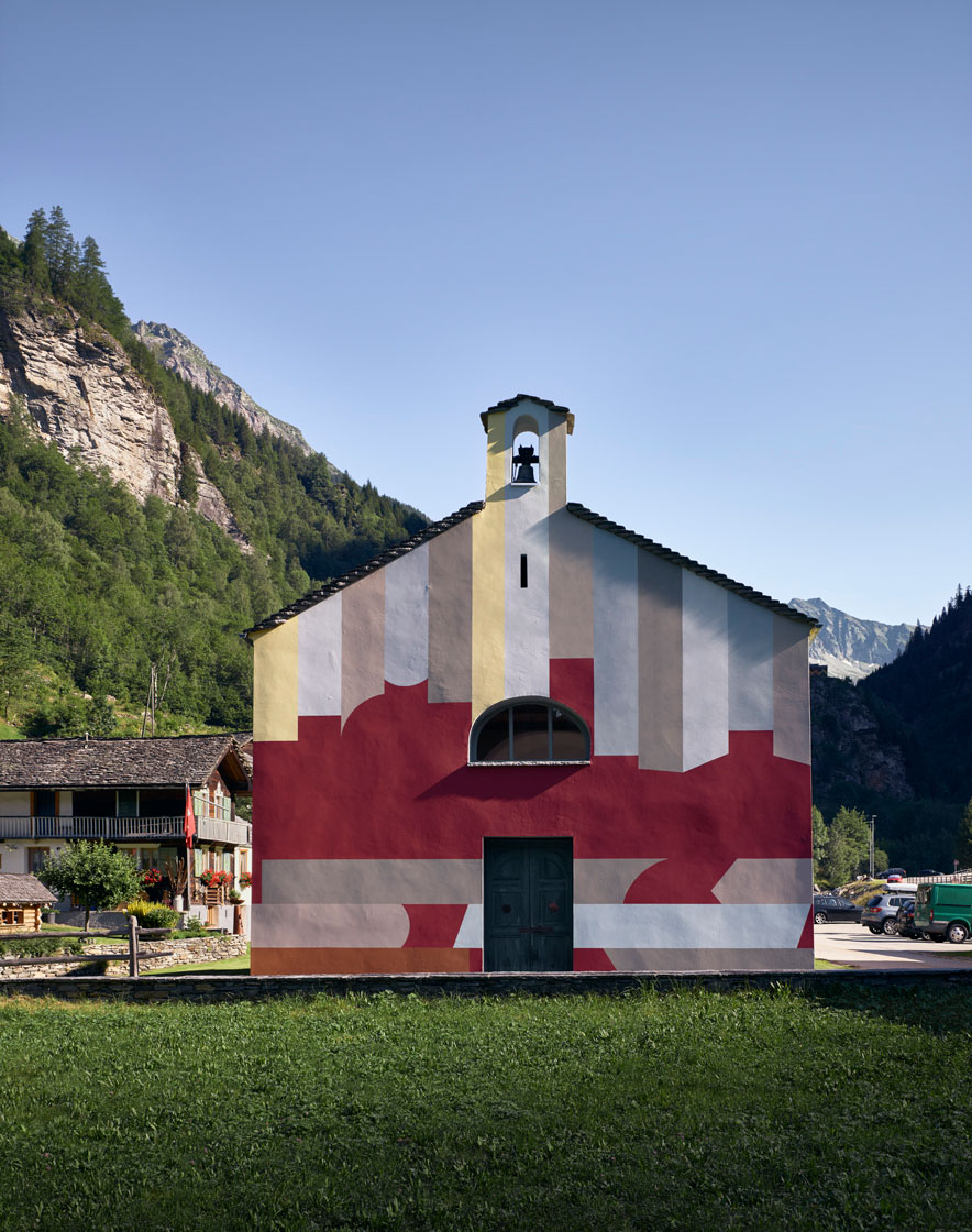 Chiesa San Carlo Al Sabbione, 1686 - Permanent work in collaboration with Davide Macullo,  2019 - Rossa, Switzerland